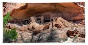 Ruins At Butler On The San Juan River  Beach Towel