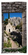Ruins In Kotor, Montenegro Beach Towel