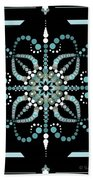 Sacred Circle Design In Blues And White Beach Towel