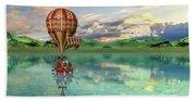Sailing Away Daydream Steampunk Custom Beach Towel