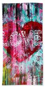 Saint Valentines Day Beach Towel