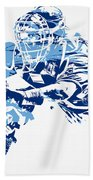 Salvador Perez Kansas City Royals Pixel Art 1 Beach Towel