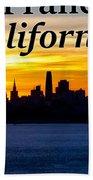 San Francisco Sunrise 2x3 Beach Sheet