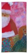 Santa Claus And Guardian Angel - Pintoresco Art By Sylvia Beach Towel