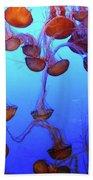 Sea Nettle Jellies Beach Towel