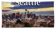 Seattle From Kerry Park Beach Towel