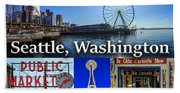 Seattle Washington Waterfront 01 Beach Towel