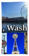 Seattle Washington Waterfront 01 Beach Towel