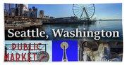 Seattle Washington Waterfront 02 Beach Towel