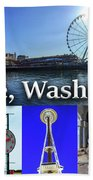 Seattle Washington Waterfront 02 Beach Sheet