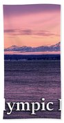 Seattle's Olympic Mountains Beach Towel