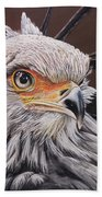 Secretary Bird Beach Towel