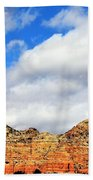Sedona Jack's Trail Blue Sky, Clouds Red Rock Hills 5032 3 Beach Towel