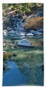 Sekani Autumn Portrait Beach Towel by Sean Sarsfield
