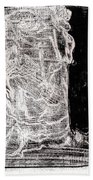 Self In Black Coloured Oil Transfer Drawing 11 Beach Towel