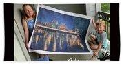Self Portrait 21 - Finding Stored Treasures Beach Towel