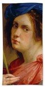 Self Portrait As A Female Martyr 1615 Beach Towel