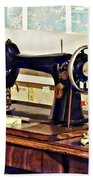 Sewing Machine In Kitchen Beach Towel