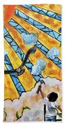 Shattered Skies Beach Towel
