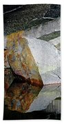 Shawanaga Rock And Reflections I Beach Towel