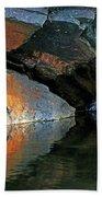 Shawanaga Rock And Reflections Xi Beach Towel