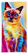 Siamese Cat Beach Towel