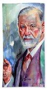 Sigmund Freud Portrait II Beach Sheet