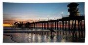 Silhouette Of Surfer At Huntington Beach Sheet