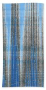 Silver Blue Plaid Abstract #4 Beach Towel by Patti Deters