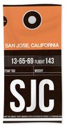 Sjc San Jose Luggage Tag II Beach Towel