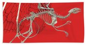 Skeleton Dragon With Red Beach Towel