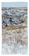 Slope County Snowfall Beach Towel