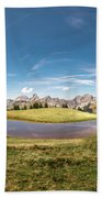 Small Lake In The Mountains Beach Towel