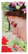 Smelling The Roses Beach Towel