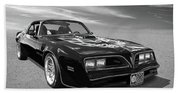 Smokey And The Bandit Trans Am In Mono Beach Towel