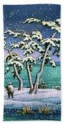 Snow At Hi Marsh, Mito - Digital Remastered Edition Beach Towel