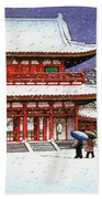 Snow In The Heianjingu Shrine - Digital Remastered Edition Beach Sheet