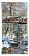 Snowy Bridge Beach Sheet