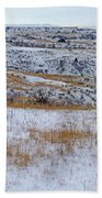 Snowy Slope County Territory Beach Towel