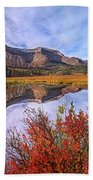 Sofa Mountain Reflecteion, Waterton Beach Towel