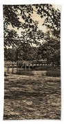 Solitude In Black And White With Sepia Tones Beach Towel