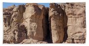 Solomon's Pillars In The Timna Valley In Southern Israel. Beach Sheet