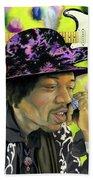 Sonic Exploration - A Jimi Hendrix Portrait Beach Towel