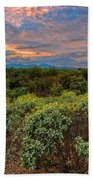 Sonoran Valley Sunset V1922 Beach Towel by Mark Myhaver