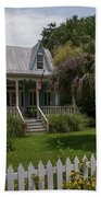 Southern Coastal Tin Roof Cottage Beach Towel