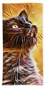 Special Long Neck Kitty Beach Towel by Don Northup