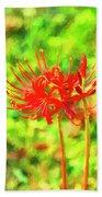 Spider Lily Cezanne Beach Towel