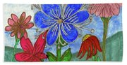 Spring Garden Beach Towel