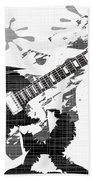 Splatter Guitar Beach Towel