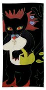 Spooky Cat Beach Towel
